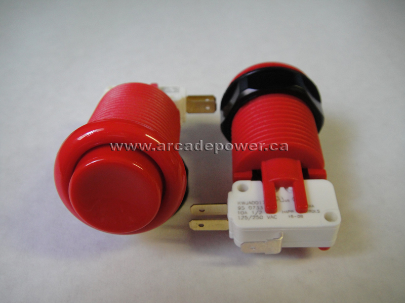 happ concave plunger pushbutton red